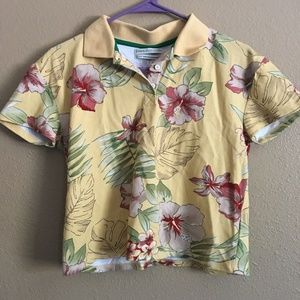 Urban Outfitters Yellow Hawaiian Floral Top